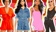 Rompers to Shop, Because Nothing Says Summer Like a Cute AF Romper Best Summer Rompers 2019 Cute Rompers, Rompers Women, Summer Fashion Outfits, Night Outfits, Summer Romper, Outfit Maker, Long Sleeve Romper, Summer Looks, Boyfriend Jeans