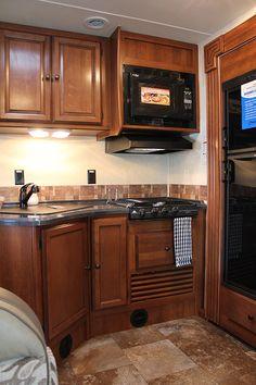 Coachmen RV Leprechaun kitchen without oven.