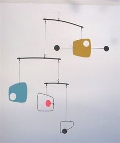 Quiet Ending - hanging mobile. I love mobiles. Hanging Mobile, Diy Hanging, Hanging Wire, Suncatchers, Mobile Calder, Mobiles Art, Make A Mobile, Mobile Craft, Mobile Sculpture