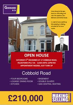 Open House event in Cobbold Road Felixstowe On 6/12/14