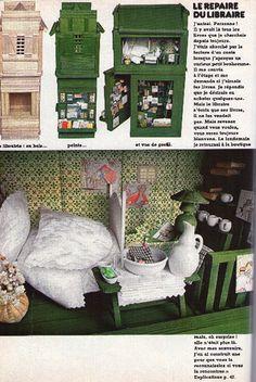 Mini house ideas from French magazine, 100 idees.  Mon numéro préféré, le numéro 26, décembre 1975 -maison de poupée Le blog des Centidéalistes