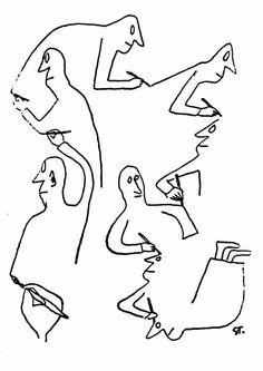 Saul Steinberg (1914-1999). Veja mais em: http://semioticas1.blogspot.com.br/2011/10/humor-romeno.html