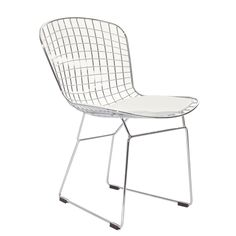 Wire Side Chair in White