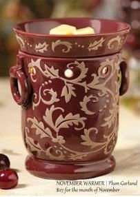 Plum Garland is the November Warmer of the month!  The scent is Midnight Fig!