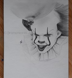 Pennywise from the IT movie 2017 (Bill Skarsgård)