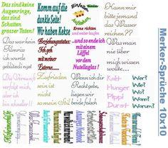 Sprüchedatei 10x10 für Kalender/Notizbücher von SewDreams - Nähträume zum Kaufen auf DaWanda.com