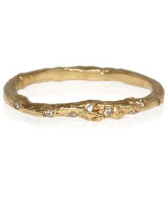 Alex Monroe Gold Diamond Twig Band | Jewellery by Alex Monroe | Liberty.co.uk