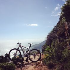 Exploring Cape Town, South Africa, with a Silverback mountain bike.