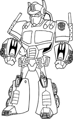 transformer happy birthday coloring pages - photo#21