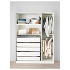 Discover the IKEA PAX wardrobe series. Design your own PAX wardrobe inside and out, from door styles, to shelves, to interior organizers and more. Pax Corner Wardrobe, Ikea Pax Wardrobe, Ikea Closet, Bedroom Wardrobe, White Wardrobe, Wardrobe Storage, Open Wardrobe, Wardrobe Closet, Room Closet