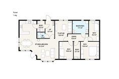 Store oppholdsarealer. TV-stue, åpen kjøkken- og stueløsning med god spiseplass. Alt på ett plan. Et meget innholdsrikt hus, hvor man slipper å tenke på trapper og nivåforskjeller. Stort bad med plass til dusj og badekar. Overbygget og avskjermet terrasse.