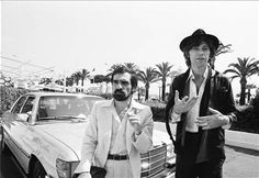 Martin Scorsese and The Band's Robbie Robertson at Cannes to screen The Last Waltz at Cannes in 1978 Martin Scorsese, The Band, Bob Dylan Band, The Last Waltz, Robbie Robertson, Gangs Of New York, Music Documentaries, Muddy Waters, Classic Image