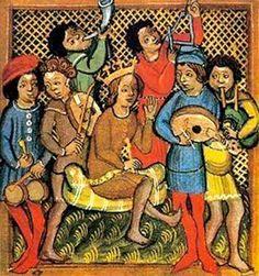 Trobadours. German anonymous., s. XIV. Archiv für Kunst und Geschichte. Berlin. 14th century - Pinterest