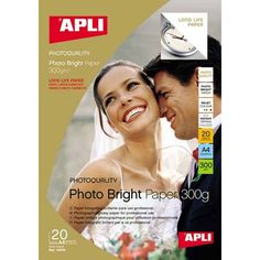 Comprar Papel fotografico A4 larga duración 300 gr Apli 10970  #oficina #tienda #negocio #casa #hogar #papel #fotografico #profesional #larga #duracion