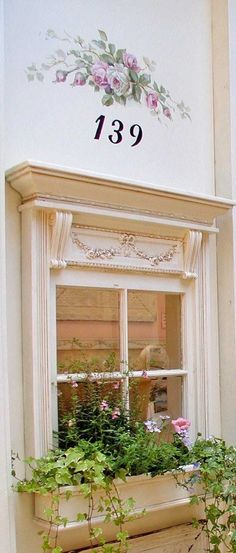 pretty window, window flower box