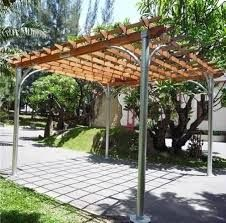 Fielders, as attached or freestanding Centenary Carports from Sun Shade Pergolas are built to last. Sturdy yet stylish carports can add good looks to your residential space. Pergola Metal, Pergola Aluminium, Steel Pergola, Building A Pergola, Pergola Garden, Deck With Pergola, Wooden Pergola, Backyard Pergola, Pergola Shade