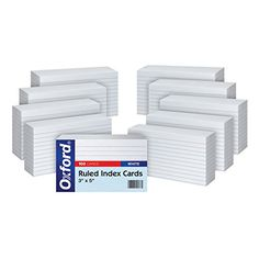 Oxford Ruled Index Cards, 3 x 5 Inches, White, 10 Packs of 100 (31) Oxford http://www.amazon.com/dp/B002OB49JQ/ref=cm_sw_r_pi_dp_7oXnwb1ZPA875