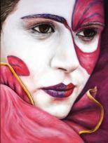 """Maskerade"", Acryl, 80 x 60 cm"
