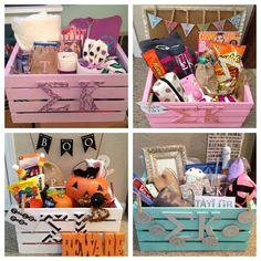 Sigma Kappa Big & Little week baskets for my little