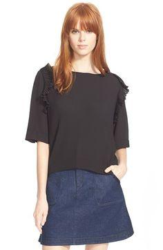 SEE BY CHLOÉ Flutter Sleeve Top. #seebychloé #cloth #