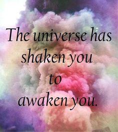 "spirituality | metaphysical quote | higher consciousness | ""The universe has shaken you to awaken you."" - Mastin Kipp #FeminologyCo"