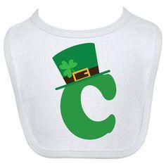Irish Alphabet Letter C Baby Bib White $9.99 www.homewiseshopperkids.com