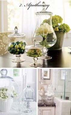 Love anything stored in apothecary jars!