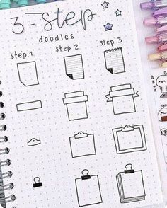 Free tutorials for bullet journal doodles to teach you how to draw a book standing up, an open book, a stack or pile of books, a bookshelf and more. Bullet Journal School, Bullet Journal Inspo, Bullet Journal Titles, Bullet Journal Banner, Journal Fonts, Bullet Journal Notebook, Bullet Journal Aesthetic, Bullet Journals, Doodle Art For Beginners