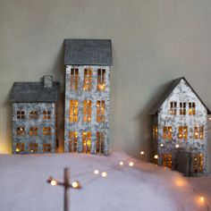 This Galvanized Christmas Village Is Going to Be This Year's Hottest Holiday Collectible