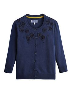 Joules null Womens Cardigan, Auxillary Blue.                     We're in the midst of a true cardigan comeback, so embrace it with this nifty little number. The detailing to the shoulder makes it a great partner to take along to a seasonal soiree.