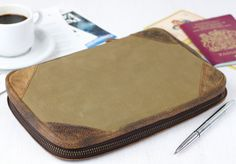 Our khaki canvas travel organiser will carry all travel documents for you, family, partners or friends. If you're in charge of family documents while travelling, this will make life much easier! Travel Tickets, Distressed Texture, Travel Organization, Id Holder, Travel Gifts, Fathers Day Gifts, Passport, Family Travel, Gifts For Women
