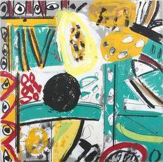 Untitled by Gillian Ayres View original image Colorful Paintings, Contemporary Paintings, Abstract Painters, Abstract Art, Scribble Art, Painter Artist, Tribal Art, Abstract Expressionism, Painting Inspiration