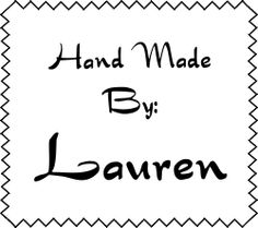 Hand Made By Zig Zag Sew Rubber Stamp image