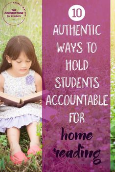 Looking for an alternative to reading logs? Here are 10 ideas to hold students acountable for reading at home... except for reading logs!