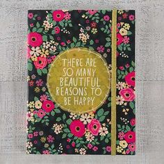 """Natural Life """"So Many Beautiful Reasons"""" Journal Floral Print Background, Floral Prints, Cute Luggage Tags, Life Journal, Journal Ideas, Cute Stationary, Reasons To Be Happy, Sentimental Gifts, Natural Life"""