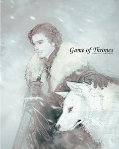 Jon Snow & Ghost #agot #got #asoiaf