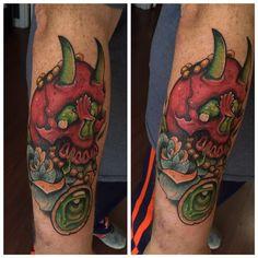 Custom skull tattoo by Michael Clester! #skull #custom #tattoo #tattoos #ink #inked #colortattoos #art #tattooartist #maryville #knoxville #TN