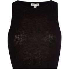 River Island Black rib fitted crop top ($7.87) ❤ liked on Polyvore featuring tops, crop tops, shirts, tank tops, cropped, sale, black crop shirt, river island, black high neck top and slim fitted shirts