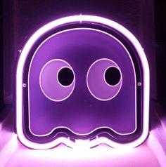SB263-Pacman-Purple-Ghost-Video-Games-Beer-Bar-Show-Room-Display-Neon-Light-Sign