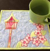 Spring BirdHouse Mug Rug Pattern - via @Craftsy