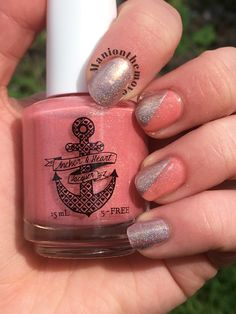 Fun Neutrals using Kissing At Sunset by Anchor & Heart Lacquer & Naked With Polish by Turtle Toosie Polish