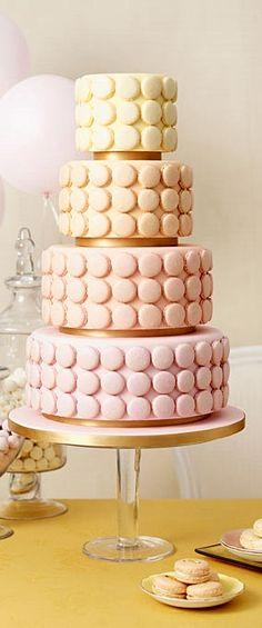 Wedding cake - with macaroons!!