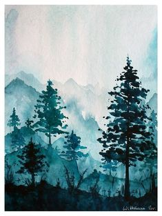 watercolor art landscape Original watercolor art with trees. Painting on aquarell paper. Watercolour Original watercolor art with trees. Painting on aquarell paper. Watercolor Art Landscape, Watercolor City, Watercolor Illustration, Watercolor Paintings, Painting Art, Watercolor Paper, Painting Trees, Watercolor Pictures, Watercolor Artists