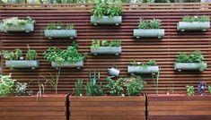 IDEIAS DA MARY: Horta em painel de madeira