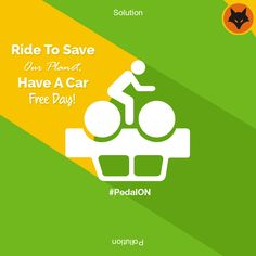 Good for you, good for the environment! Can you go car free? #PedalON