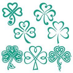 Trébol de la suerte de los diseños Cuttable irlandesa Svg