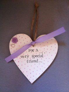 Hanging heart, handmade gift, friend gift.