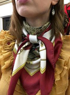 Knotty silky scarf bondage