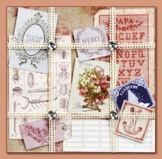 French General Floral Ephemera Kit