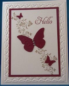 Love the butterfly embosslit from Stampin' Up!